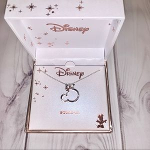 DISNEY CRSYTAL MINNIE MOUSE BOWTIFUL NECKLACE
